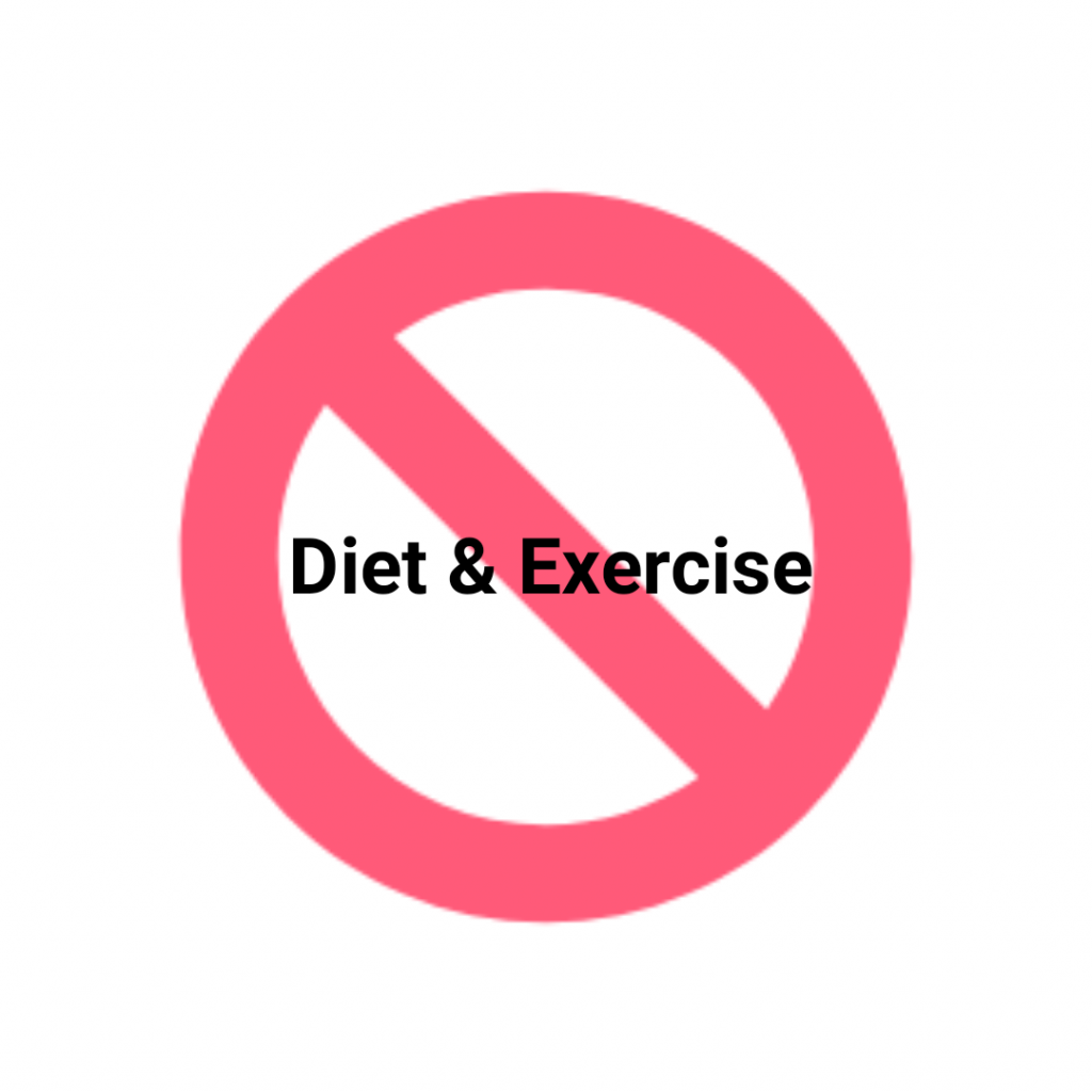 Don't Diet and Exercise